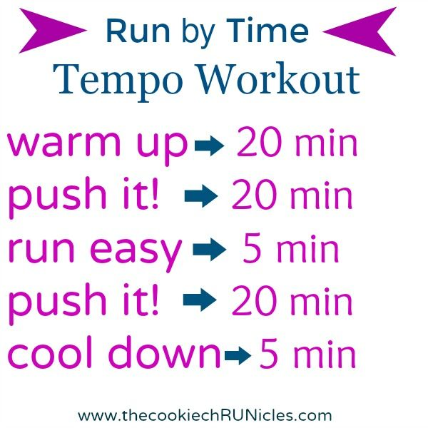 Run By Time Tempo Workout!
