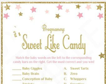 How well do you know the Mommy, Baby Shower Games, Twinkle Twinkle Little Star Baby Shower, Printable, Pink Gold Baby Shower, Download, STPG