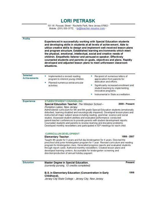 resume or curriculum vitae in australia
