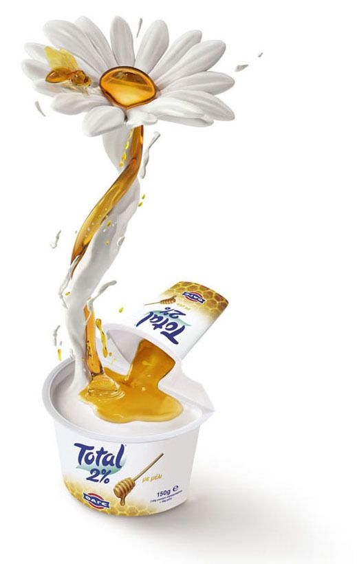 Yoghurt and fruit by Studio Clip, via Behance