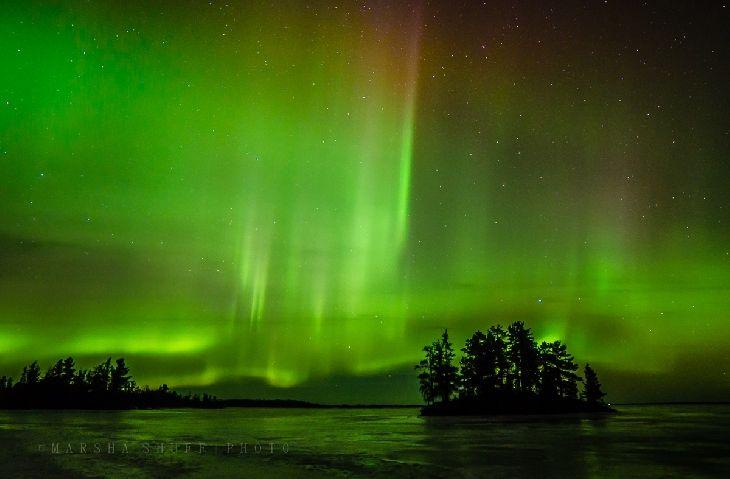 Aurora Borealis - International Falls, Minnesota on Rainy Lake