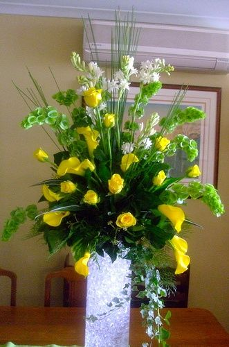 Best large flower arrangements images on pinterest