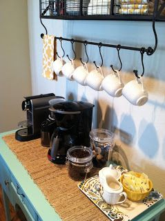 Coffee Bar, perfect for our preschool parent room. Wow!