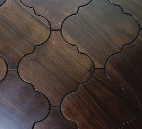 Moroccan wood floor tiles - Sextant pattern >>Quite possibly one of the prettiest tiles I have yet to see!