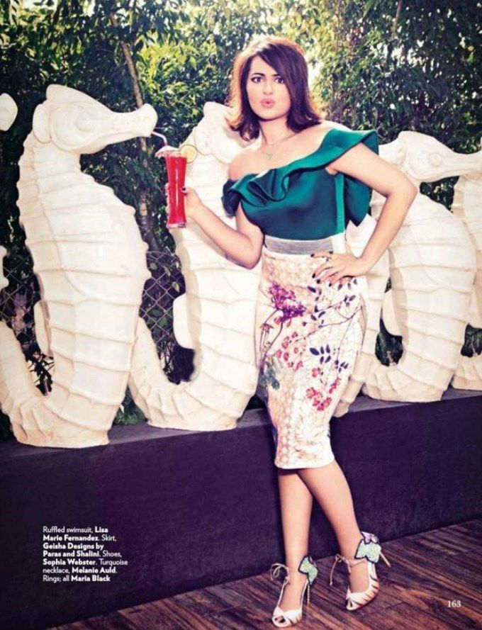 Sonakshi Sinha posing for Vogue magazine India.