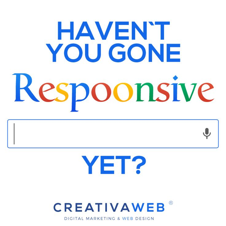 This is the right time to ask: Haven't you gone Respoonsive yet? As most of you already know everybody is setting up their websites prior to Google's April 21 Mobile-Friendly Algorithm Update. Check out the whole post here! > http://www.creativaweb.co/havent-you-gone-responsive-yet/ #responsive #google #mobile #mobilefriendly #mobilemadness #digital #marketing #creativaweb