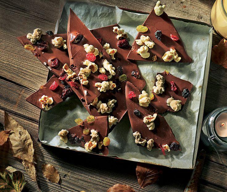 Chocolate popcorn shards recipe asda recipes