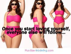 "Look who said this: Plus Size Modeling.com! Finally! A modeling corporation that endorses beauty at any size and shape. Now, if we could just get them to remove the words ""plus size"". :)"