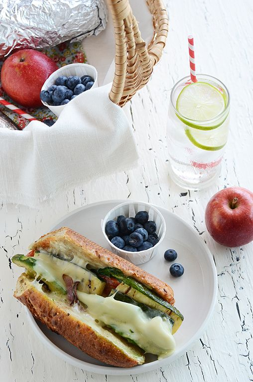 The Ultimate Veggie Hoagie...perfect for a summer picnic!: Grilled Veggie, Summer Picnic, Veggie Hoagie Perfect, A N R Picnic, Picnics, Veggies, Ultimate Veggie
