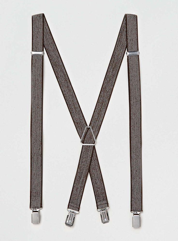 Brown Textured Braces