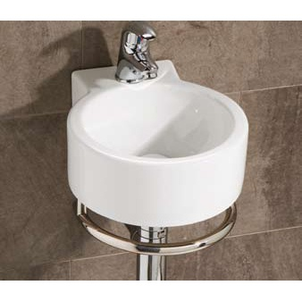 Corte Cloakroom Basin, priced at £137.95. The Corte compact round cloakroom basin and towel rail, a stylish space saving solution for a superb price. Order now at - http://www.betterbathrooms.com/bathroom-suites/cloakroom-basins/corte-cloakroom-basin/