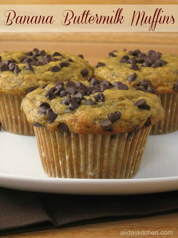 Banana Buttermilk Muffins - Super easy muffins take only 10 minutes to prepare from scratch. These are so good!