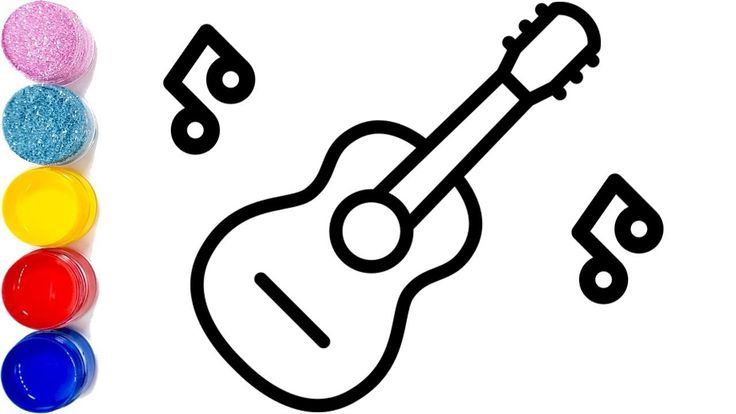 Guitar drawing for kids 8 electric guitar how to