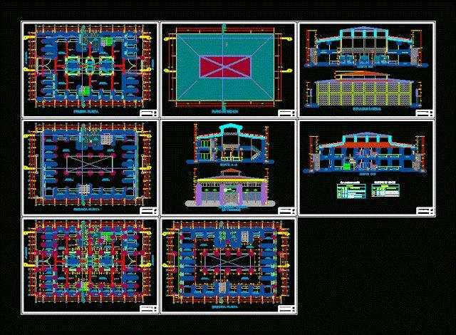 Centre commercial DWG  DWG de marché, Centre commercial, Plans architectural , coupes, élévations, détails, Sections. http://geniecivilettravauxpublics.blogspot.com/2015/08/centre-commercial-plans-architectural.html