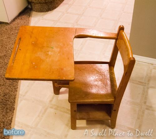 Old school desk - these weren't exactly comfortable!