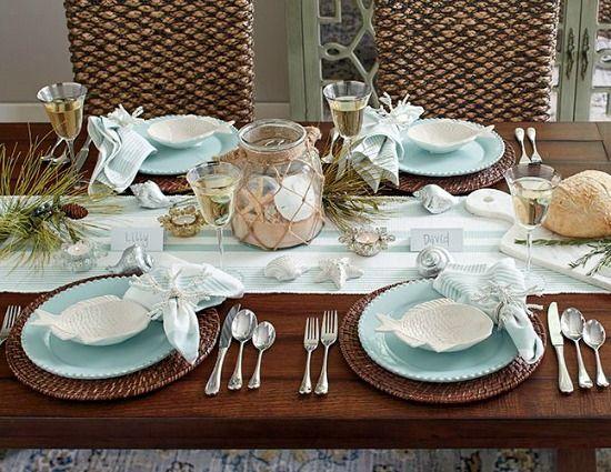 Elegant Light Beach Blue Dinnerware and Table Decor.... http://www.beachblissdesigns.com/2016/10/light-blue-beach-tabletop-dinnerware.html