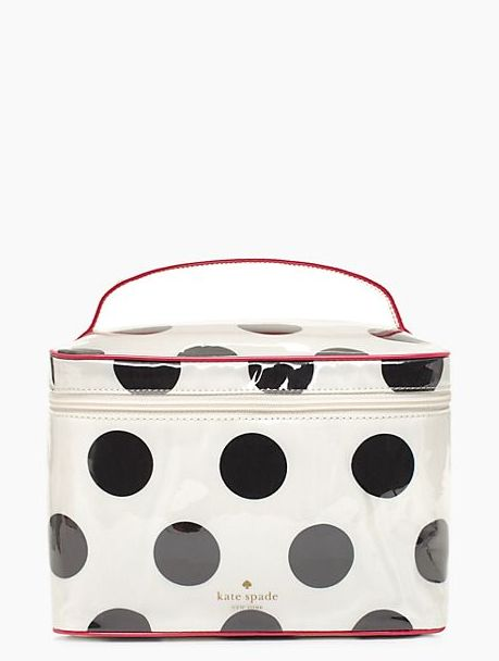 I like the one with bows better but this polka dot cosmetic case is cute too | Kate Spade
