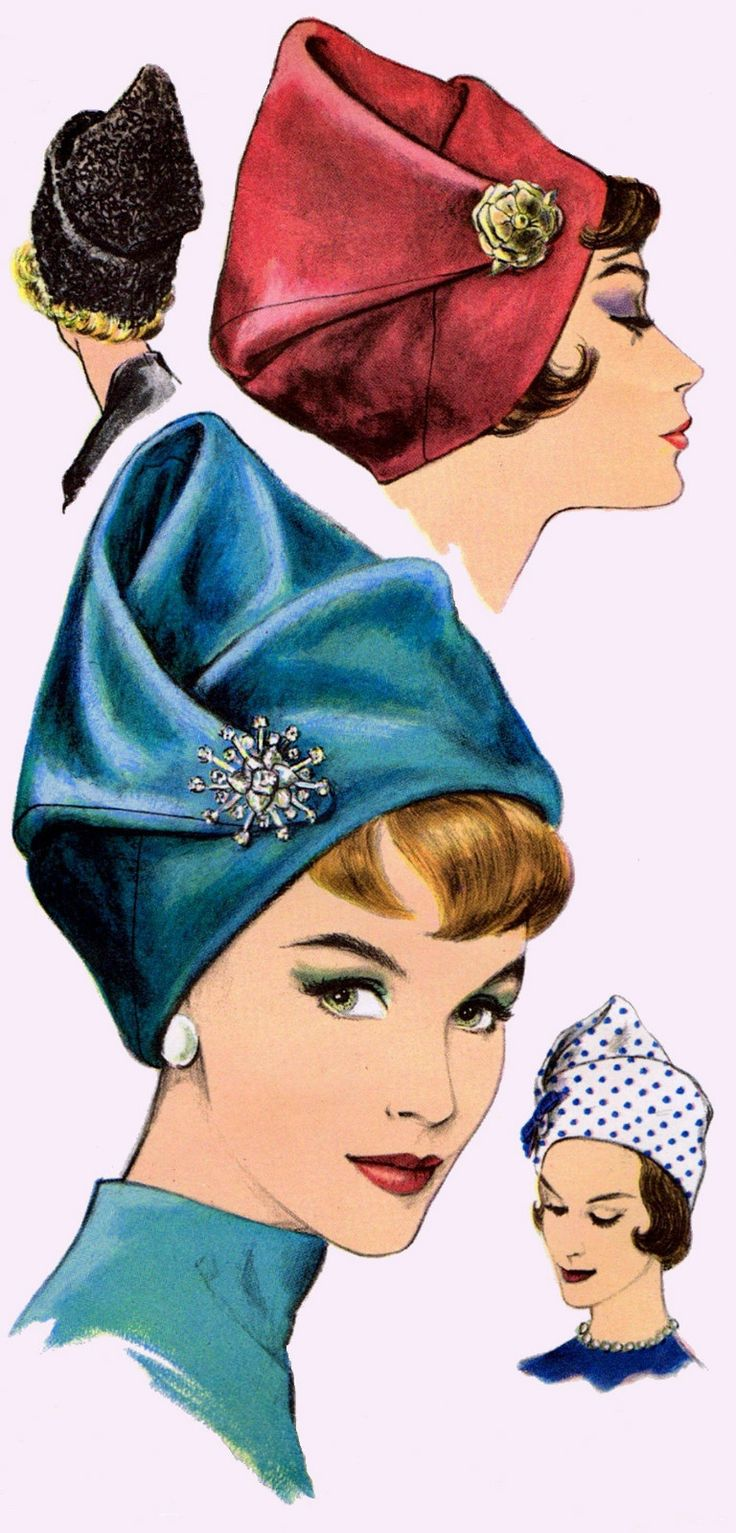 Vint Draped Toque Hat Fascinator Millinery Fabric Sewing Pattern 5384 Frederics | eBay