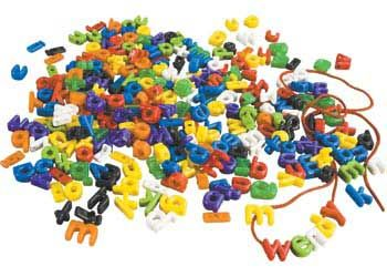Lower Case Letter Beads-288Pc