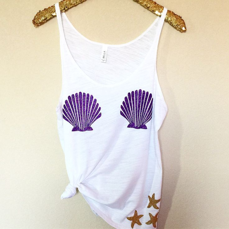 Mermaid Bra Tank - Slouchy Relaxed Fit Tank - Ruffles with Love - Fashion Tee - Graphic Tee