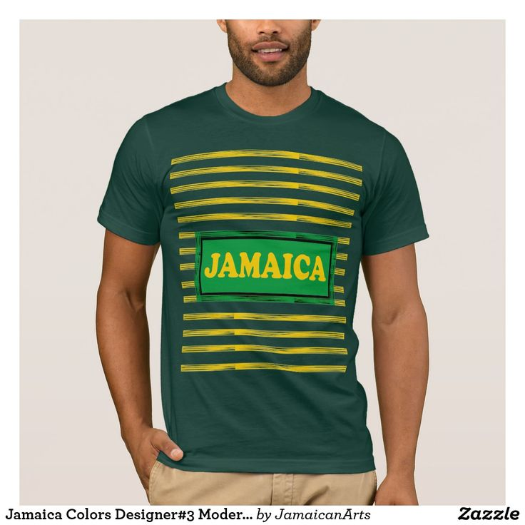Jamaica Colors Designer#3 Modern Wave T-Shirthttps://www.zazzle.com/jamaicanarts?rf=238136051362953437