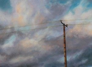 Communication Lines 40.25x30.25cm oil on canvas 2015 www.elenaduff.com oil painting art irish art landscape contemporary art realist