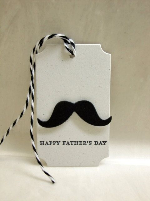 Father's Day Gift Tags Moustache Gift Tags by ThePaperMenagerie, $0.50