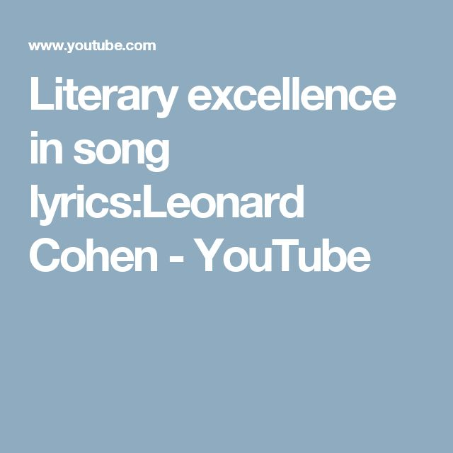 19 best Leonard Cohen images on Pinterest | Musicians, Music and ...