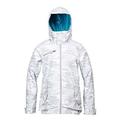 Roxy Juno Womens Insulated Snowboard Jacket, Snow Camo, large