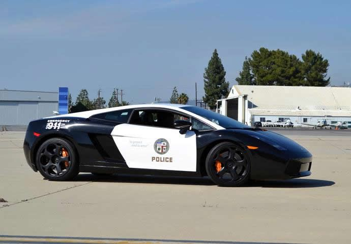 The LAPD adds a swanky Lamborghini Gallardo to its patrol car fleet