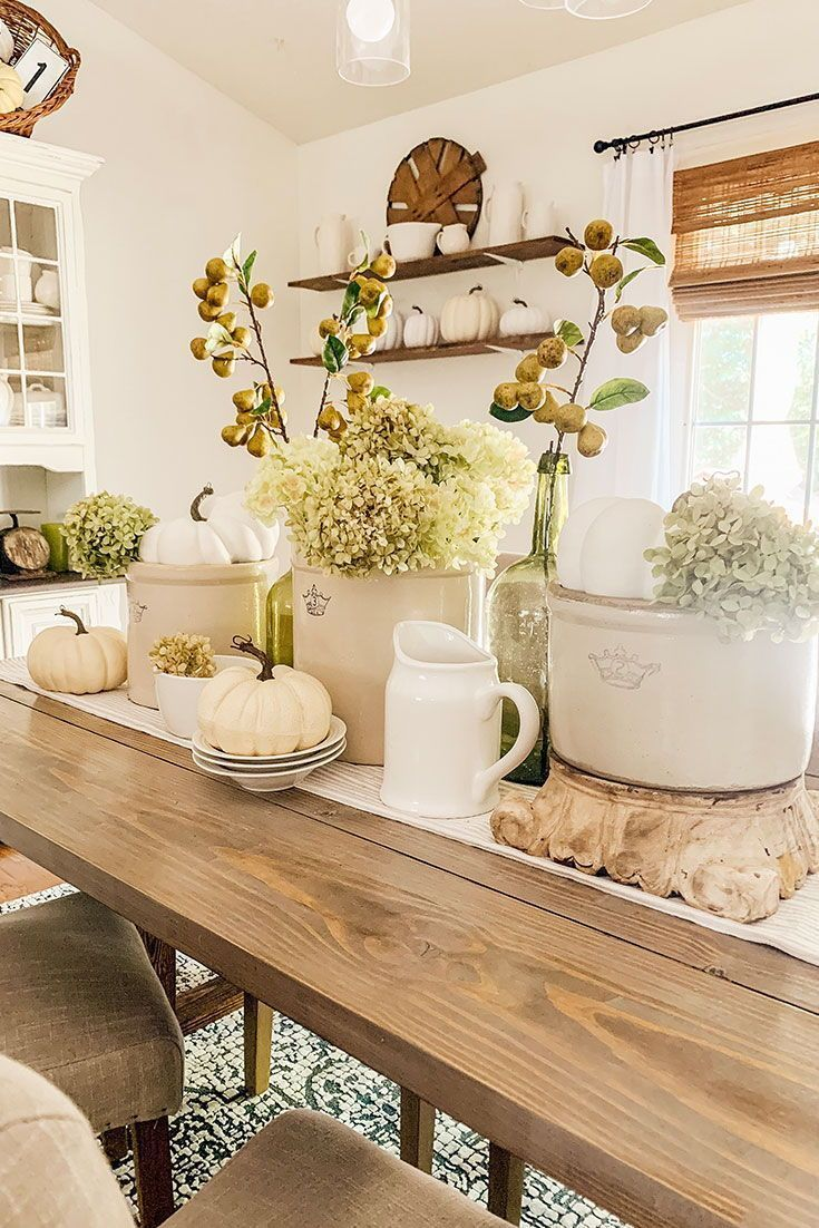 Artificial Pear Fruit Branch In 2020 Fall Dining Room Fall Kitchen Decor Fall Dining Room Table