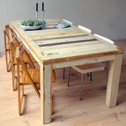 Tafel van sloophout | sloophout tafel | tafel Romania op maat gemaakt | de Steigeraar