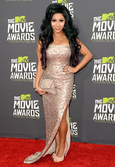 Snooki walked the red carpet at the MTV Movie Awards