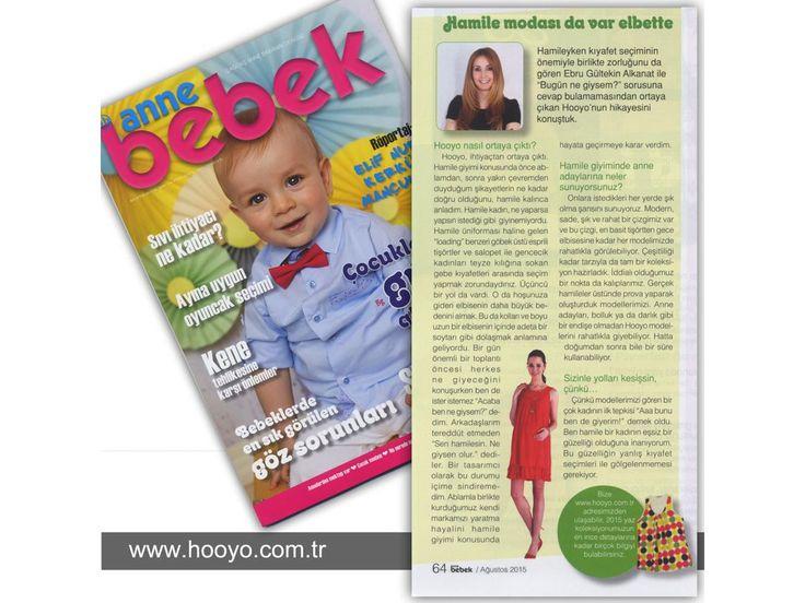 Hooyo, Anne Bebek Dergisi Ağustos Sayısında