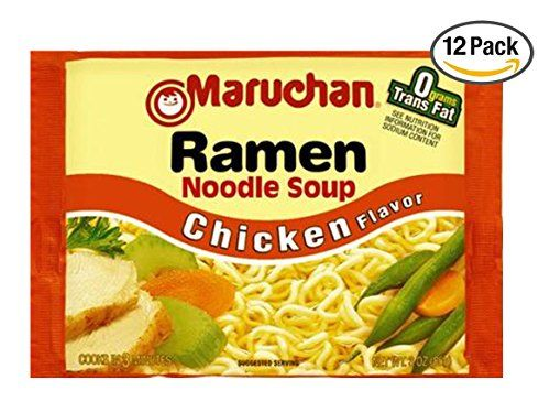Great Maruchan Ramen Noodle Soup, Chicken Flavor, 3 oz (12 Pack)