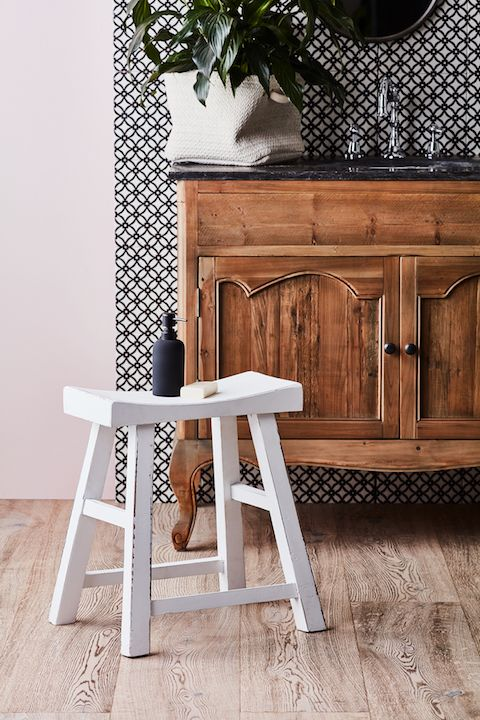 Simple Pleasures - 2018 home decor trends have seen the return of simple, vintage pieces that are all natural and timeworn.  Our Limited Edition Tarquin Stool is a perfect example.  Available in azure blue, black and white, it's perfectly placed in any room including the bathroom!