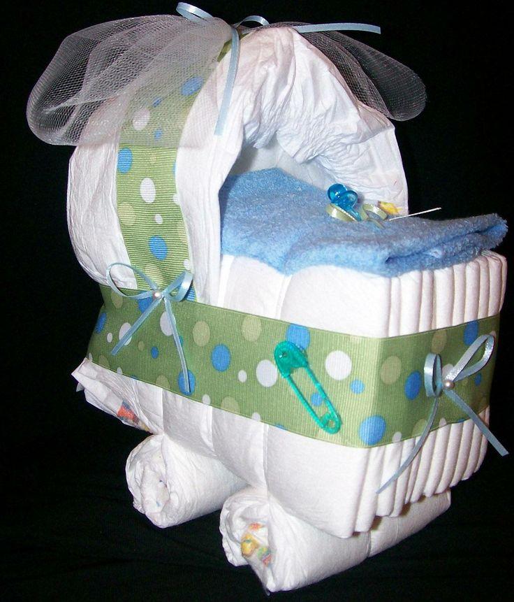 How To Make A Baby Shower Diaper Cake | Boy Diaper Cakes How To Make