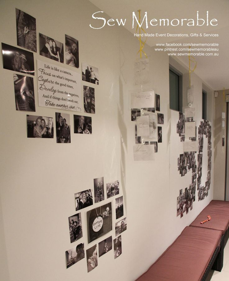 Custom Photo Feature Wall - Contact us at -   www.facebook.com/sewmemorable  enquiries@sewmemorable.com.au