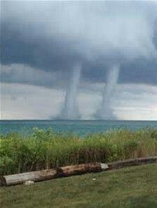 Waterspouts Over Lake Michigan~Kenosha,Wisconsin