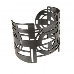 Futuristic shapes inspired with art deco, bracelet from NANO collection by Anna Orska.