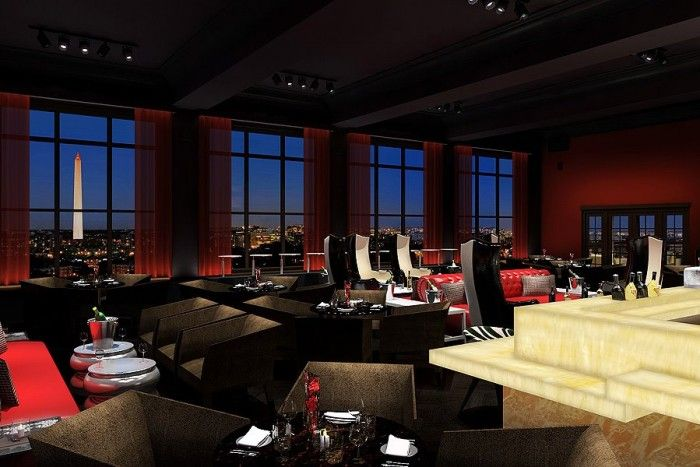 """POV, Washington D.C, America - It's no Oval Office but the POV (Point of View) bar inside Washington D.C.'s W Hotel is the spot to see the high powered politics unfold. Head straight up to the 11th floor terrace of this funky hotel, walk past the """"red tape"""" graffiti walls, grab a drink at the bar and head to the balcony. Sightseeing done. Some of America's most famous landmarks are right in front of you – look out at the Lincoln Memorial, the Washington Monument, the White House and…"""