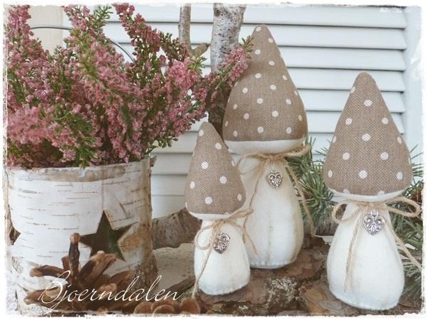 Schöne Stoffauswahl für Pilze
