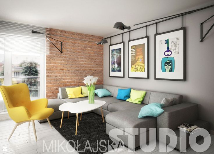 kontrastowe wnętrze - zdjęcie od MIKOŁAJSKAstudio - Salon - Styl Nowoczesny - MIKOŁAJSKAstudio