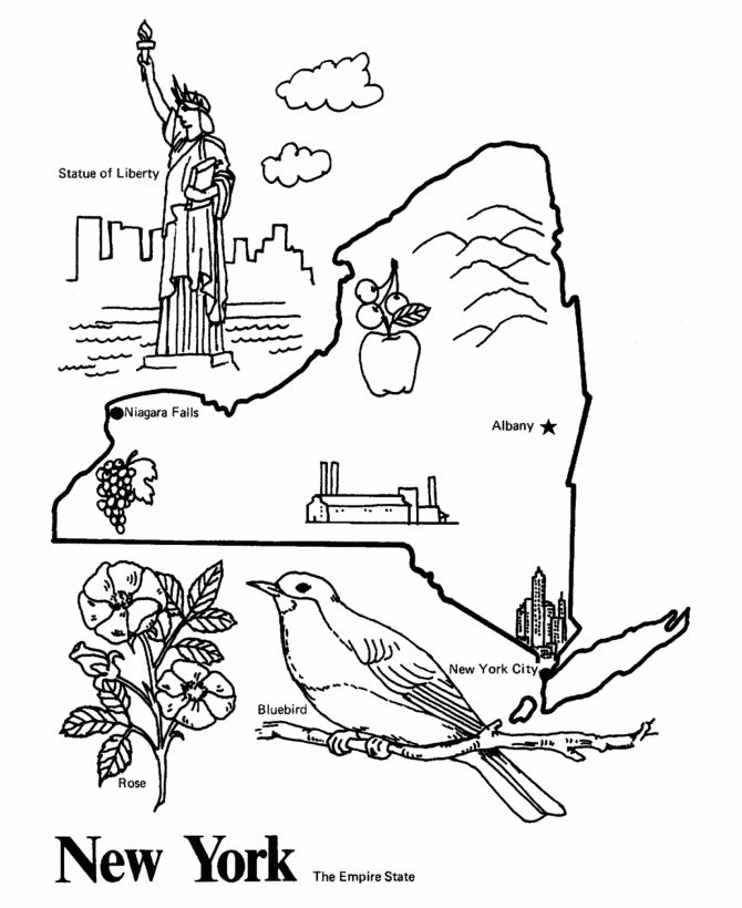 nyc coloring pages - photo#13