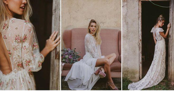 Vestidos de novia para bodas bohemias
