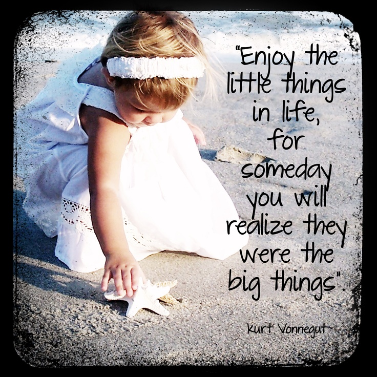 The Little Things Matter Most In Life: Enjoy The Little Things In Life Quotes. QuotesGram