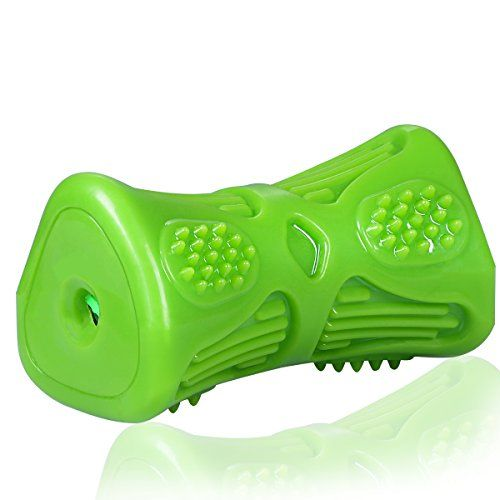 Dog Toys Jakpak Interactive Squeaky Toys for Large Medium Dog Non-Toxic Nature Rubber Made Tough Dog Toys Outdoor Dog Chew Toy for Boredom Pet IQ Toy Dogs Healthy Teeth Gums Massage Toys Green