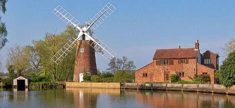 Hunsett Mill Stalham seen on Norfolk Postcards