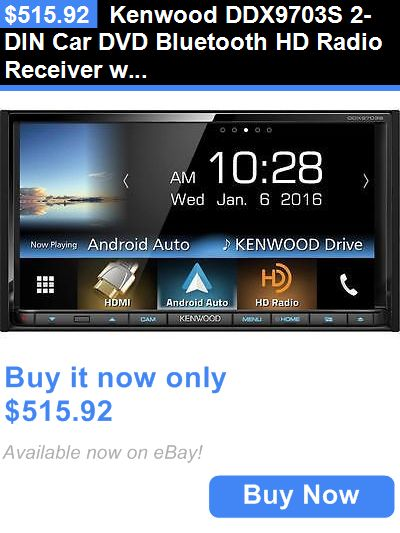 Vehicle Electronics And GPS: Kenwood Ddx9703s 2-Din Car Dvd Bluetooth Hd Radio Receiver W/ 6.95 Touchscreen BUY IT NOW ONLY: $515.92