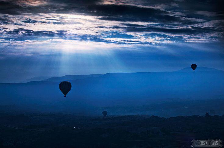 Absolutely beautiful photo! In the skies of Cappadocia, Turkey